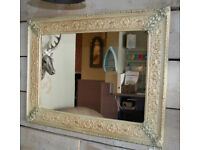 Painted Mirror - Gold & Cream - Aged Finish