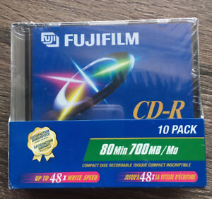 10 pack brand new Fujifilm blank recordable CD's