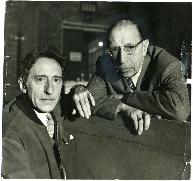 Igor STRAVINSKY (Composer) & Jean COCTEAU (Writer): Original 1956 Photograph