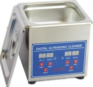 Professional Digital Ultrasonic Cleaner Bath with Heating Baskets 110v 1.3L (020417)