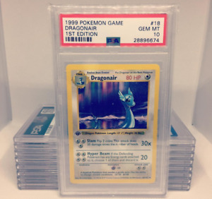Pokemon 1st Edition PSA 9 and 10 Complete Rare / Common Set