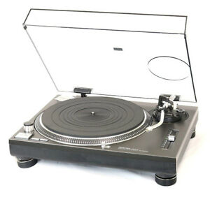Technics SL-1200 turntable with dustcover