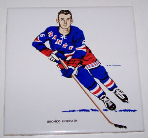 H M Cowan NHL New York Rangers Ceramic Tile Horvath