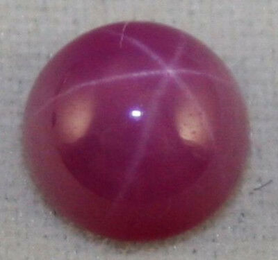 LAB GROWN STAR RUBY 5MM ROUND GEMSTONE  0.6CT CABOCHON JEWELLERY MAKING RU6D