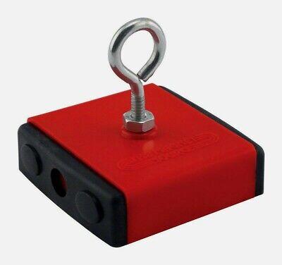 Master Magnetics 2.375 In. Ceramic Retrieving Magnet Red 40 Lb. Pull 07504 New