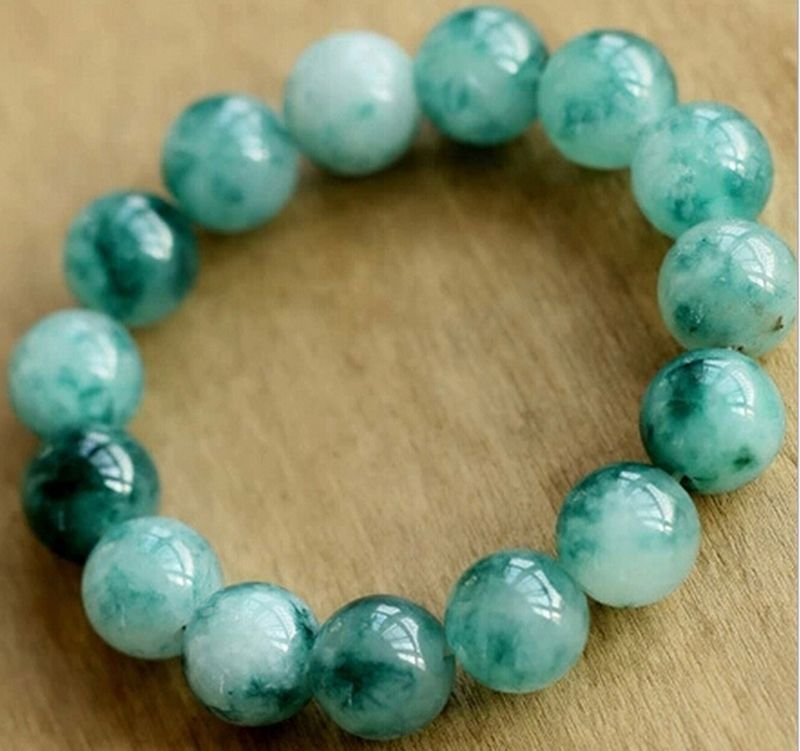 """7.5"""" 10mm specialty natural Amazonite Interfax evil Lucky jade beads Bracelets"""