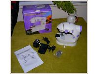 Mini Electric Sewing Machine 2 Speed Adjustment with Light Foot Pedal - NEW!