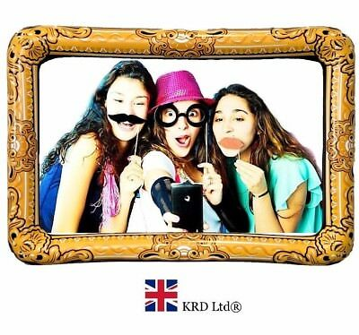 GIANT INFLATABLE PHOTO FRAME Selfie Frame Booth Props Blow Up Hen Party 60x80 cm
