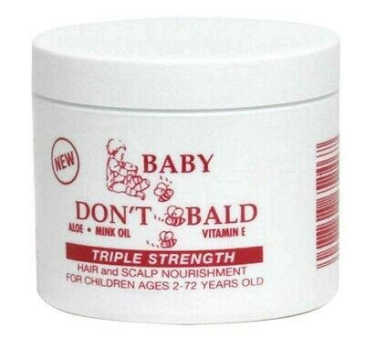Baby Don't Be Bald Hair & Scalp Nourishment Triple Strength Aloe Vitamin E 4oz (Vitamins Hair Scalp)