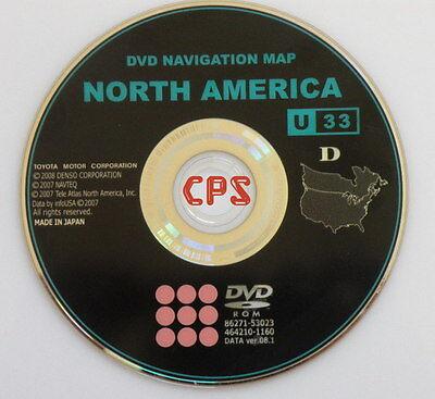 2007 2008 2009 Toyota Camry / Hybrid / Solara / Tundra Navigation DVD Map U33 CD