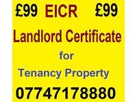 EICR - Landlord Certificate for Tenanacy Property