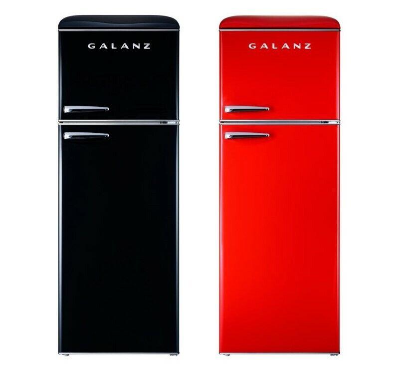 Galanz Retro 12.0 Cu Ft Top True Freezer Refrigerator (12 cu. ft.) Dual Door