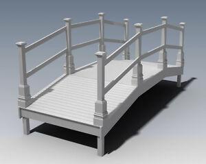 Garden Bridge Deck V01 Unique Design Building Construction