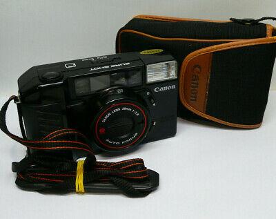 Serviced Working 1980s Canon Sureshot AF35M II 38mm f2.8 35mm Film Camera + Case