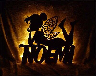 Fee Lampe Nachtlicht mit Name nach Wunsch - Geschenke für Fee Fans