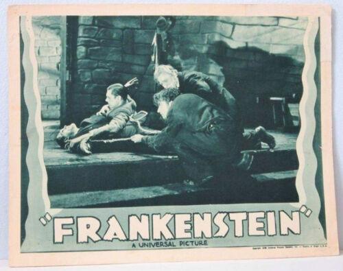 Frankenstein Movie Poster Vintage Lobby Card Boris Karloff