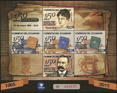 Ecuador 2015 150 Jahre Briefmarken Stamp Centenary Block ** MNH