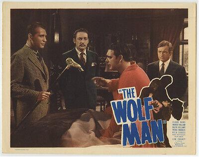 WOLF MAN 1941 LON CHANEY ORIGINAL LOBBY CARD MOVIE POSTER