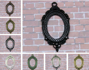 10-60pcs-Antique-Silver-Tone-Alloy-Lace-Oval-Cameo-Setting-Inner-Size-24x18mm