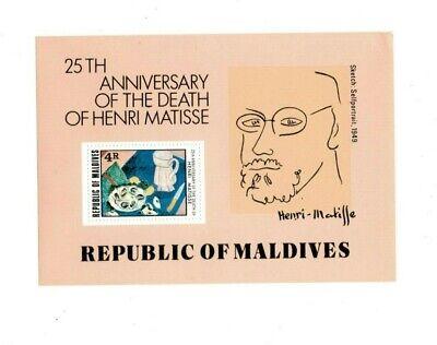 VINTAGE CLASSICS - MALDIVES SC# 810 - Henri Matisse - S/S - MNH