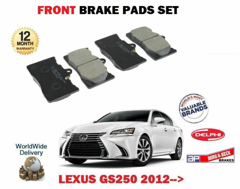 FOR LEXUS GS250 2.5 4GR-FSE 2012-> NEW FRONT BRAKE DISC PADS SET