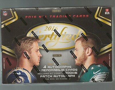 2016 Panini Certified Football Factory Sealed Hobby Box