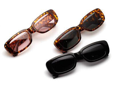 Rectangle Sunglasses Leopard 2020 Summer Sun Glasses Retro Square UV400 (Leopard Sunglasses)