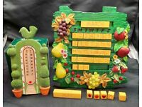Garden Calendar and Thermometer Ornaments.
