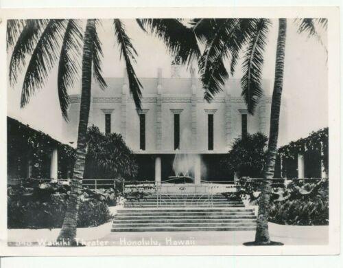 1940 Waikiki Movie Theater Hawaii 5x7 Photo
