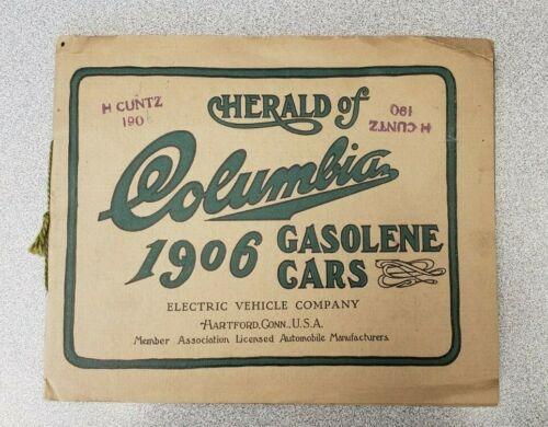 1906 Columbia Electric Vehicle Company Gasoline Car Brochure