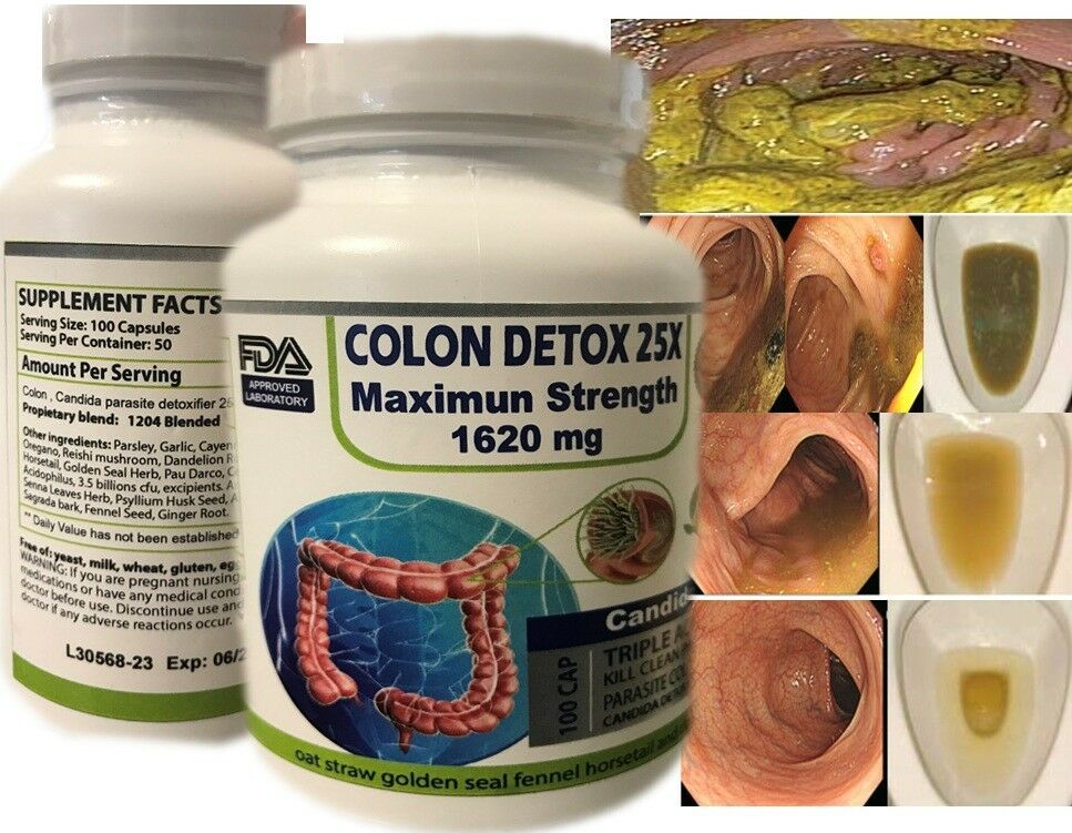 100 caps COLON HERBAL CLEANSE NATURAL DETOX ALOE VERA ALFALFA Fast colon cleanse