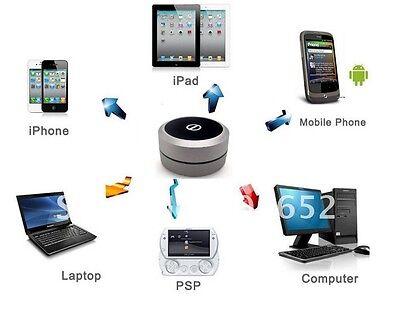 Altavoz Negra Con LED Bluetooth Para IPHONE/Ordenador / IPAD / Psp /...