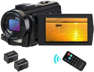 "CamVeo Video Camera Camcorder HD 1080P 24MP 16X Digital Zoom 3.0"" LCD 270 Degree"