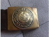 """German WWI """"Got Mit Uns"""" Original belt & buckle"""