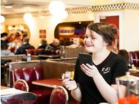 PART TIME WAITER/WAITRESS EDS EASY DINER RUGBY GREAT RATES OF PAY + TIPS +TRONC