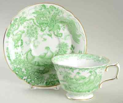 Royal Crown Derby GREEN AVES Cup & Saucer 543439 Aves-cup