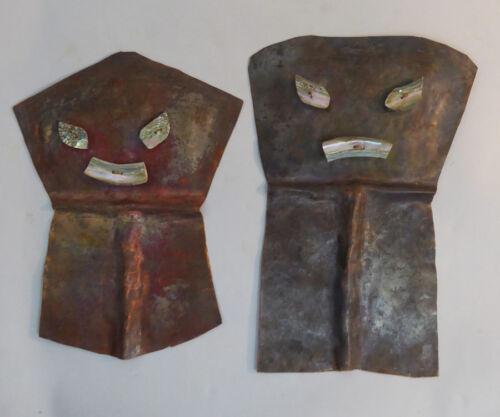 Northwest Coast Pair of COPPER Shields Ethnographic Artifact RARE