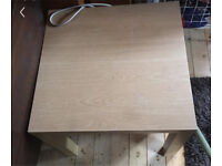 Ikea pine / white stained oak laminate coffee / side / occasional table