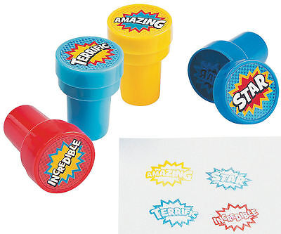 Boy Birthday Party Favors (24 Superhero Stamps Stampers Boy's Birthday Party Favors super)