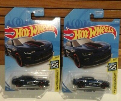 Lot of 2 2019 Hot Wheels 2018 '18 Camaro SS #26 Case B Brembo HW Speed Graphics