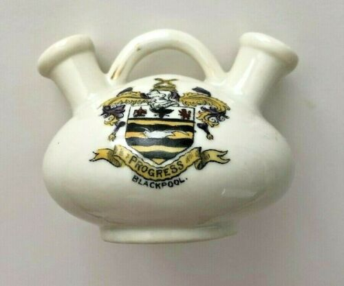 Blackpool Crestware Double Vase.  Tiny, Cute, in Very Good Condition!