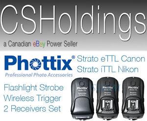 Phottix Strato iTTL i-TTL Nikon D4x D5 D810a Wireless Trigger 2 Receivers Kit