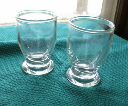 2 Glass Egg Cups