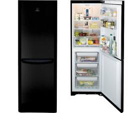 Indesit Black Tall Fridge Freezer Very Good Condition