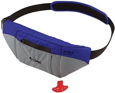 - Onyx M24 Manual Inflatable SUP Belt Pack Life Jacket M-24 Blue/Grey PFD NEW
