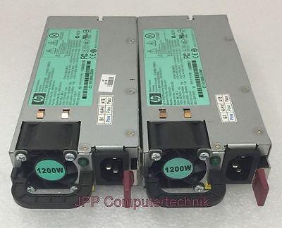 2x Stück LOT HP 490594-001 HSTNS-PL11 PSU Server Netzteil 1200 Watt Power Supply