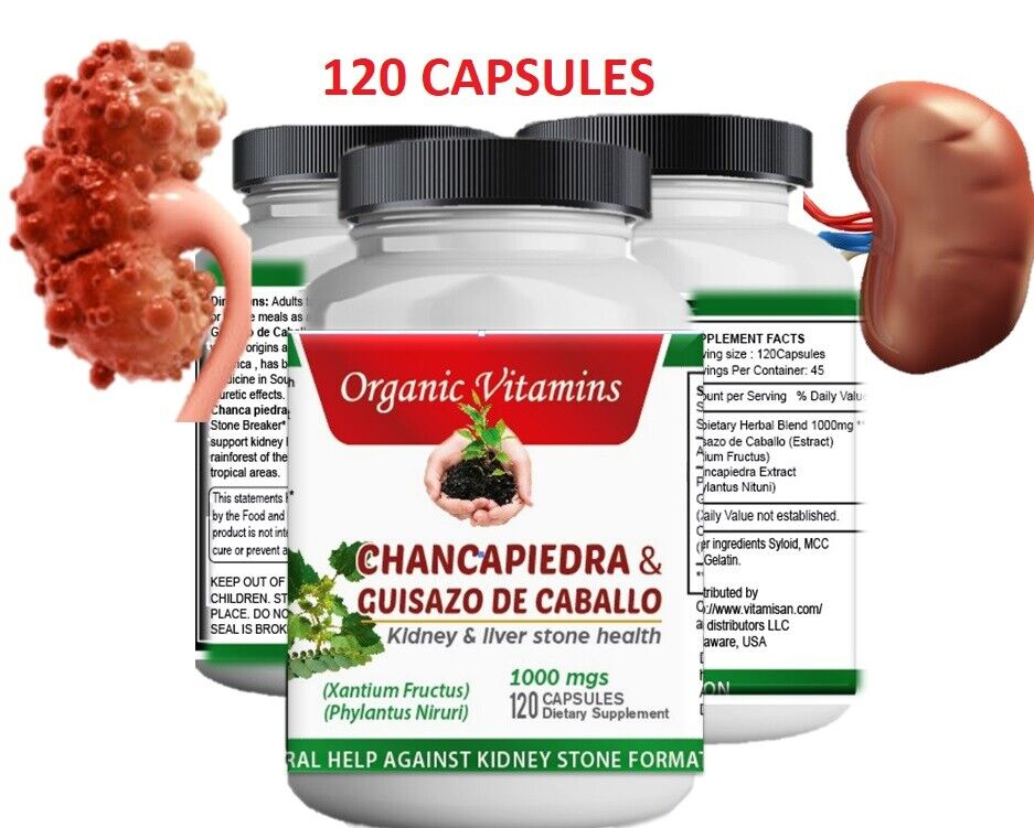PURE Organic Chanca Piedra KIDNEY STONE BREAKER Natural Cleanse GALLSTONES Pills