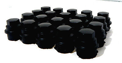 (20) 2010 CHEVY CHEVROLET HHR 12X1.5 BLACK LUG NUT COVERS FOR HUBCAPS