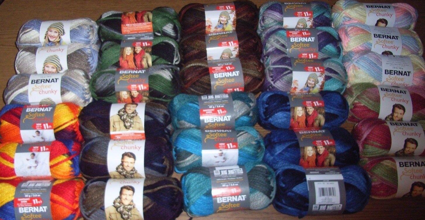 softee chunky yarn lot of 3 skeins