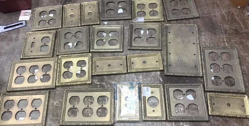 Lot Of 22 New Brass Cover Plates